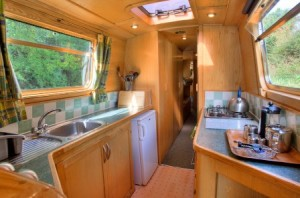 A typical narrowboat galley